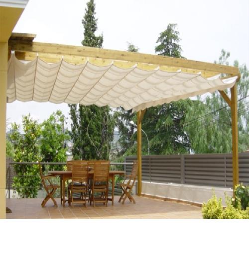 Lonas para patios los toldos laterales o paravientos enrollables se presentan como una solucin - Toldos para patios ...